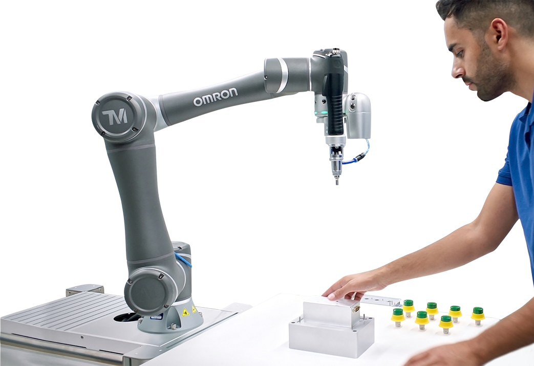 Omron Collaborative Robot Cobot Simplicity of Collaborative Robot Quick startup and changeover
